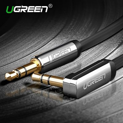 Ugreen 3.5mm Audio Cable 90 Degree Right Angle Flat Jack