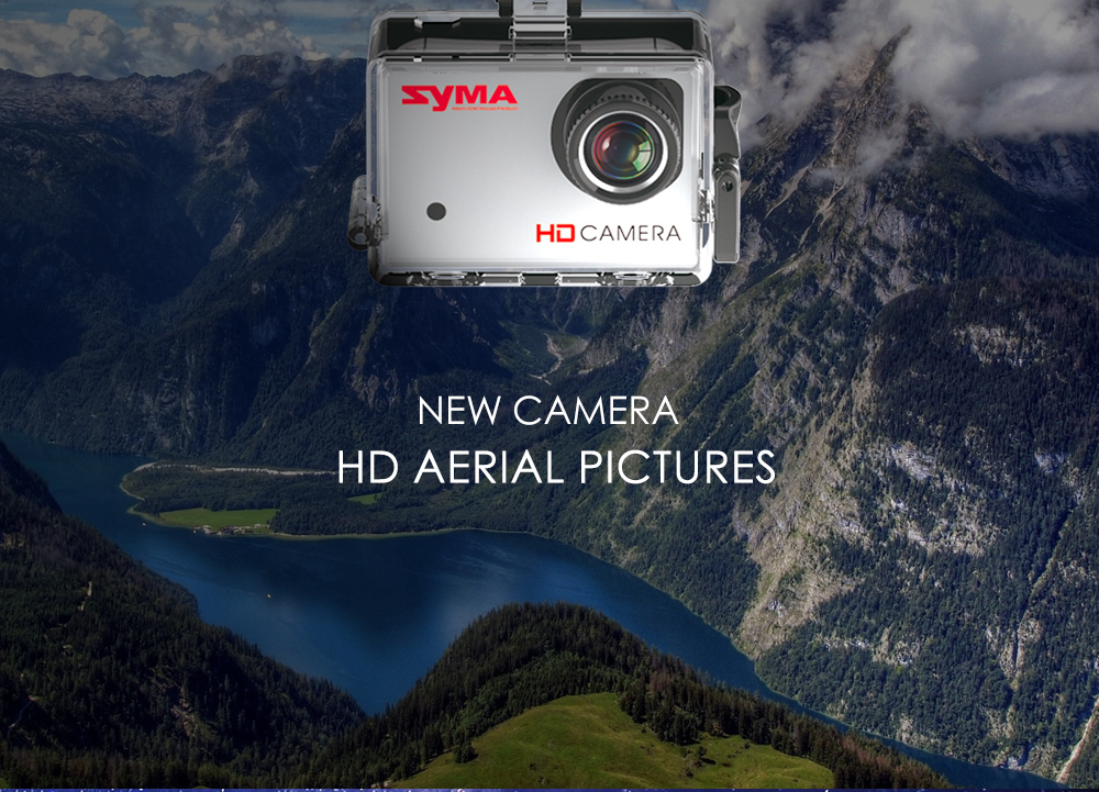 SYMA X8G 2.4G 4.5 Channel Remote Control Quadcopter with HD Camera 6 Axis Gyro