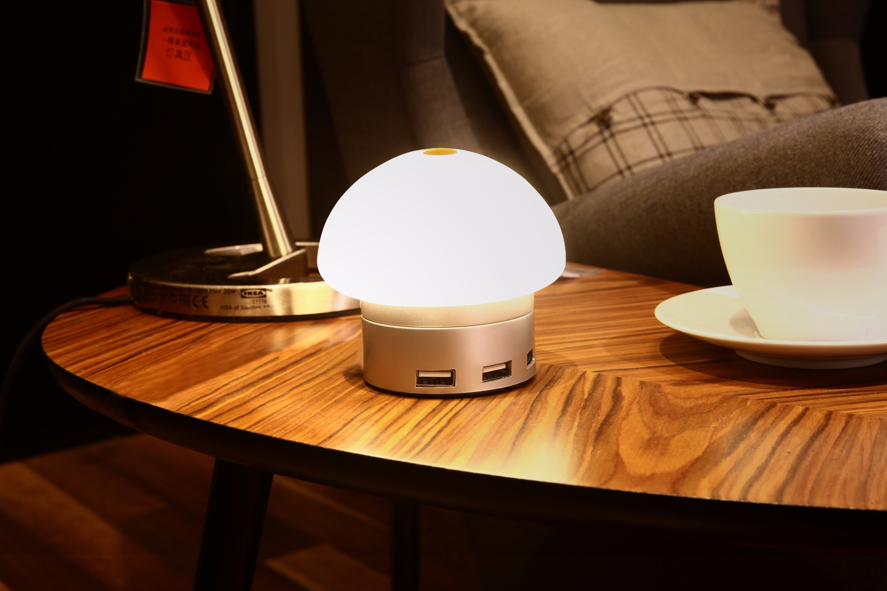 Seenda USB Charger 6 Port Hub Desktop LED Touch Lamp