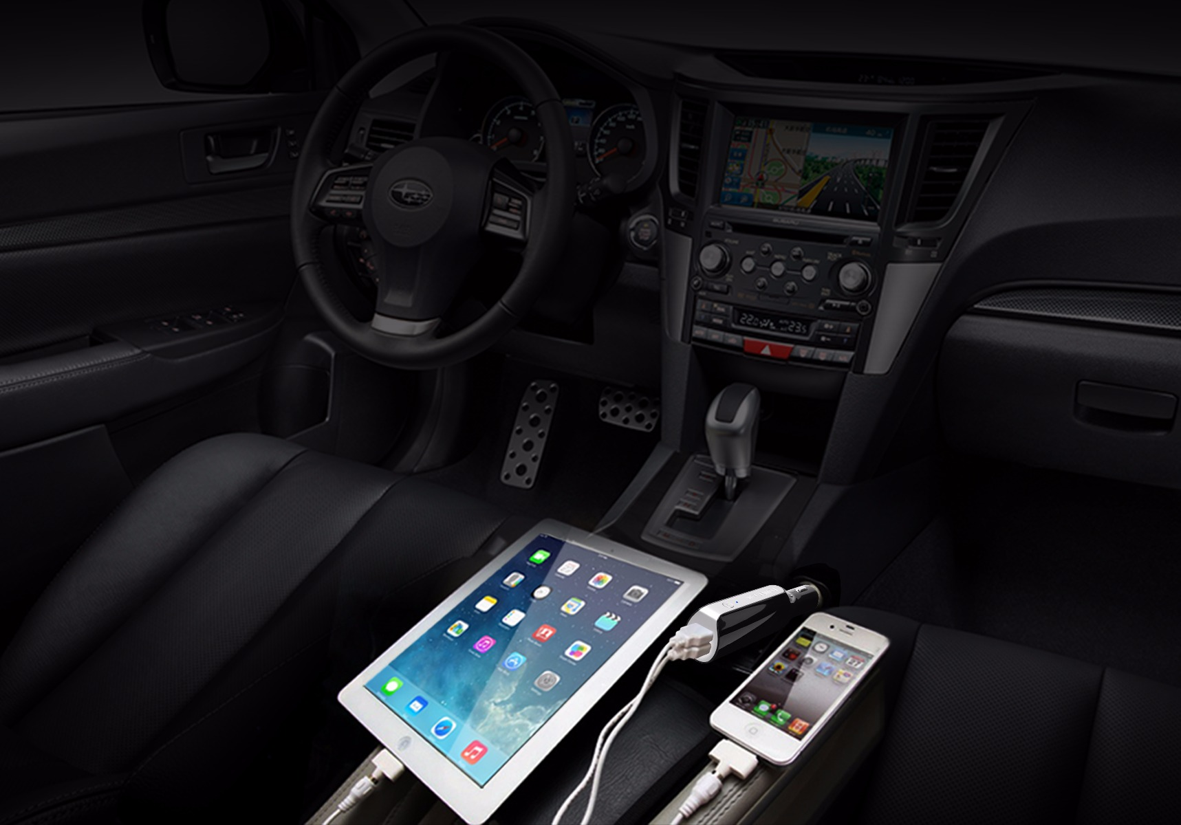 Seenda ICH-15C Car Charger 2800mAh Power Bank with 2 USB Port