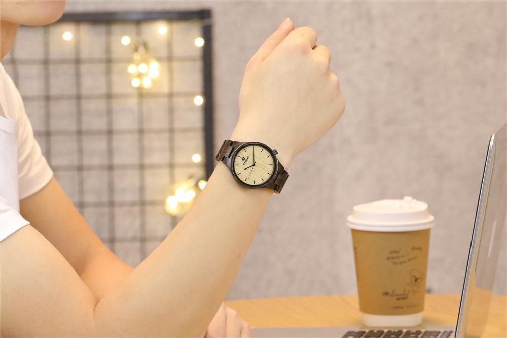 Redear SJ1603-5 Wooden Quartz Watch-Male