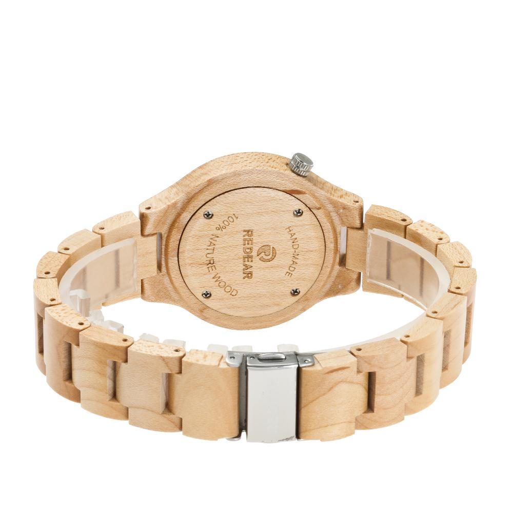 Redear SJ1603-2 Wooden Quartz Watch-Male