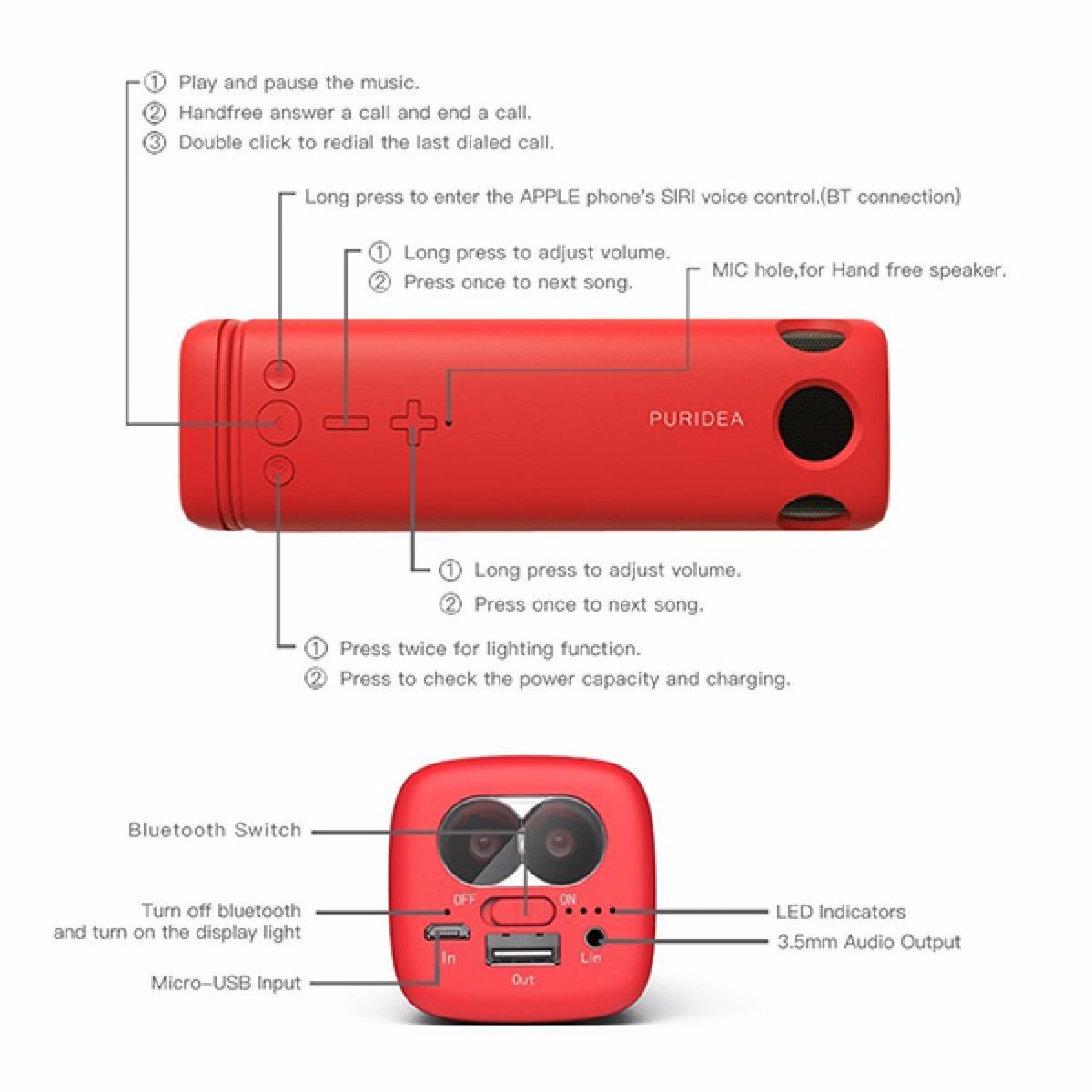 i2 speaker with led light