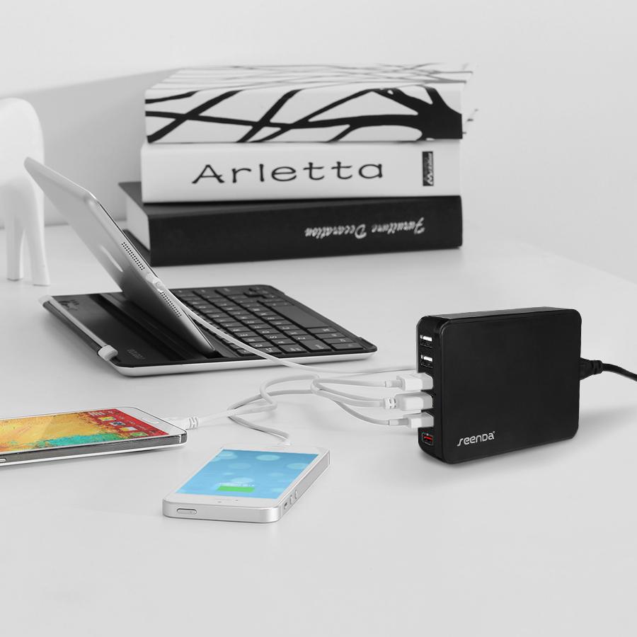 Seenda ICH-03 6 Port USB Charger Support QC 2.0 Fast Charging