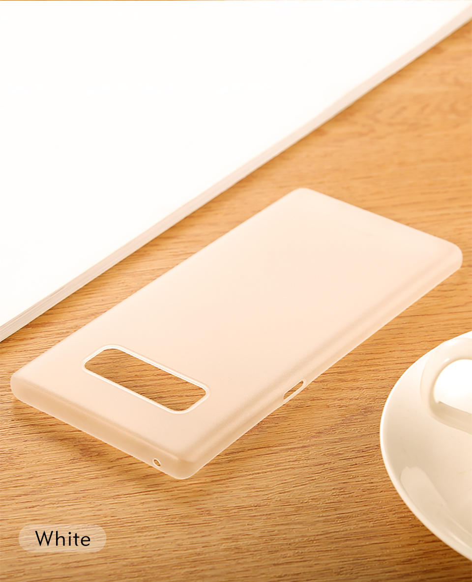 Benks Ultra Thin Phone Case Matte Plastic PP Luxury Slim for Galaxy Note 8