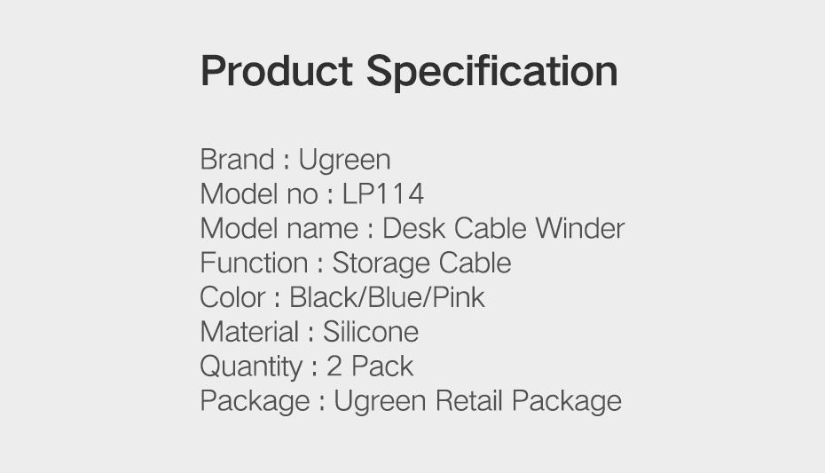 Ugreen LP114 Cable Earphones Organizer Winder