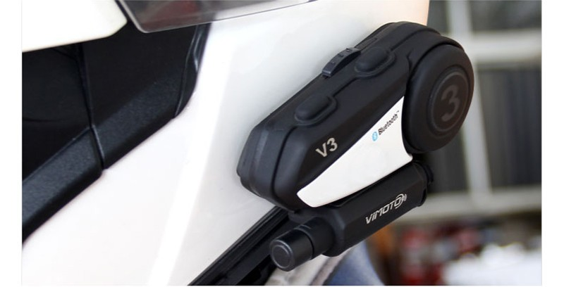 Vimoto V3 Bluetooth Radio Headset Multifunctional GPS 2 Way Motorcycle Helmet