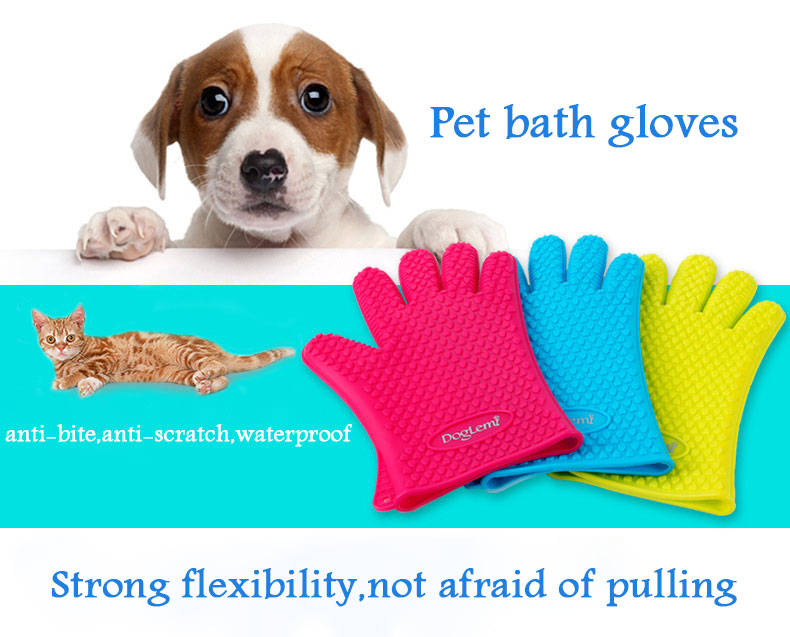 DogLemi PL126 Silicone Swab Waterproof Glove for Pet Grooming
