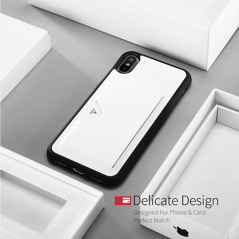 DUX DUCIS PU Leather Back Case with Card Slot for iPhone X