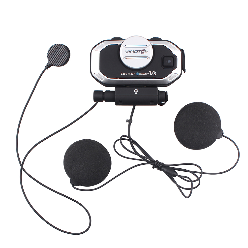 Vimoto V8 Motorcycle Helmet Bluetooth Intercom Headphone