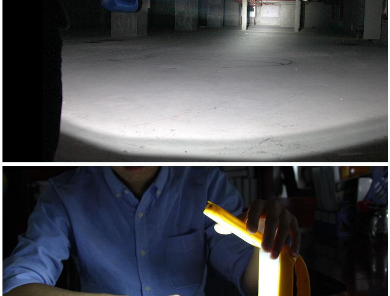 YAGE 3337 Portable LED Flashlight Handheld 2-modes Chargable Desk Lamp