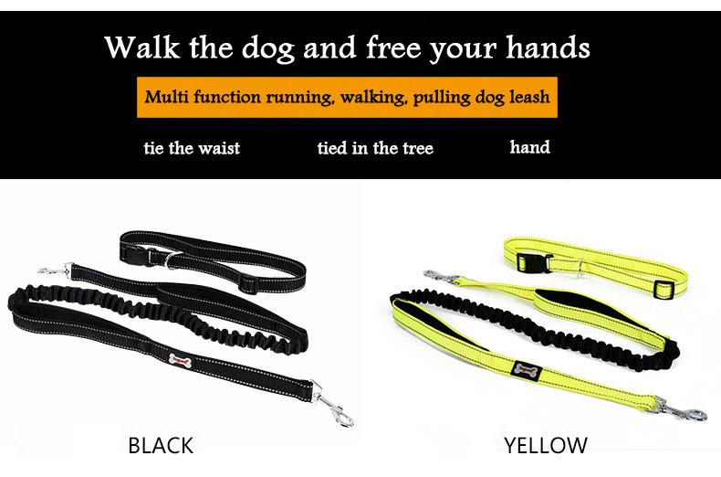 DogLemi WL105 Dog Leash Free Hands Nylon Reflective Running Pet Lanyard