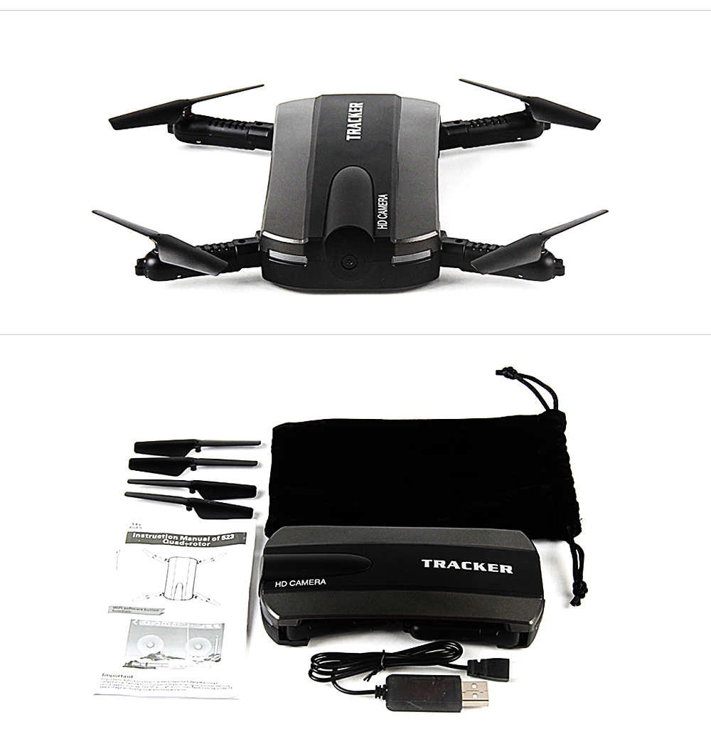 JIN XING DA 523 Foldable Selfie Control Drone FPV Helicopter HD Camcorder