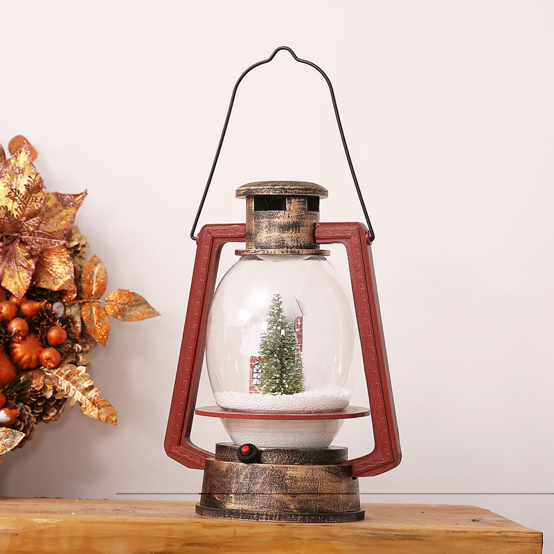 Christmas Snow Oil Lamp Jewelry Shopping Malls Hotel Supermarket Decoration Supplies