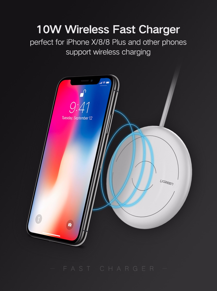 Ugreen CD171 Qi 10W Wireless Fast Charger Humidifier Mini Portable Mute USB Aroma Air Purifier