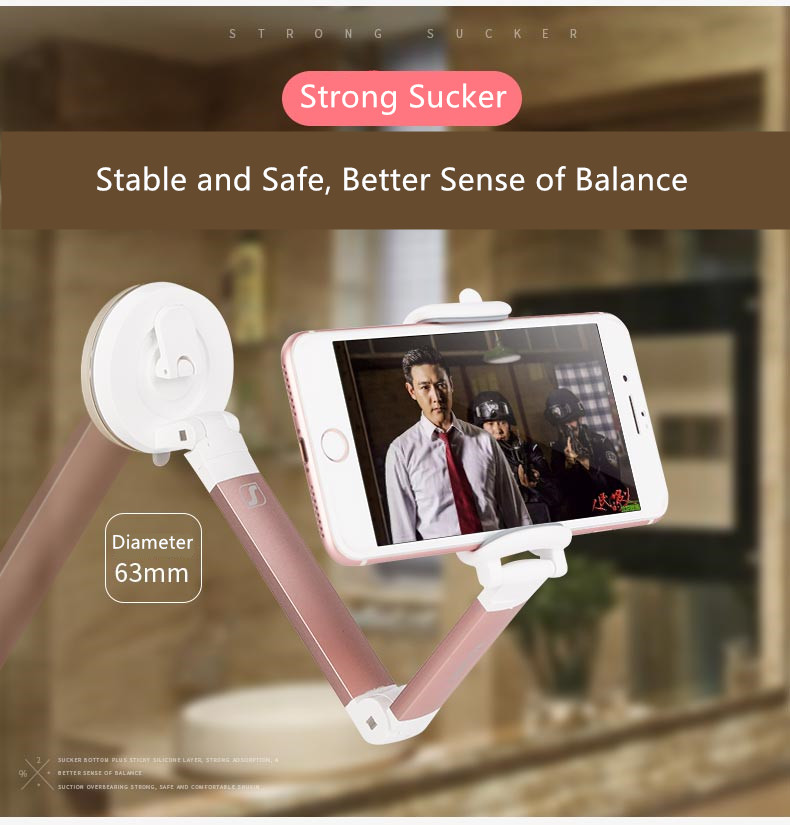 Seenda Foldable Car Phone Holder Universal Desktop Stand with Strong Suction CupDesktop Charger