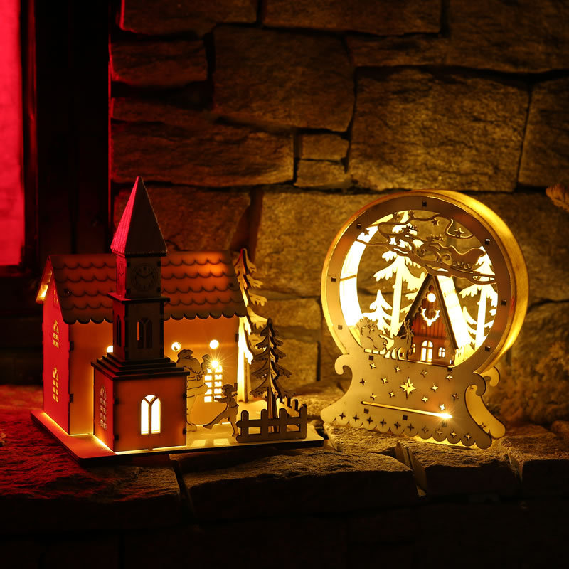 Creative Chalet LED Lights Christmas Ornaments Mall Bar Atmosphere Furnishings Props