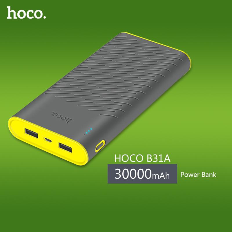 HOCO B31A 30000mAh Power Bank Dual USB Portable Charger with LED Indicator