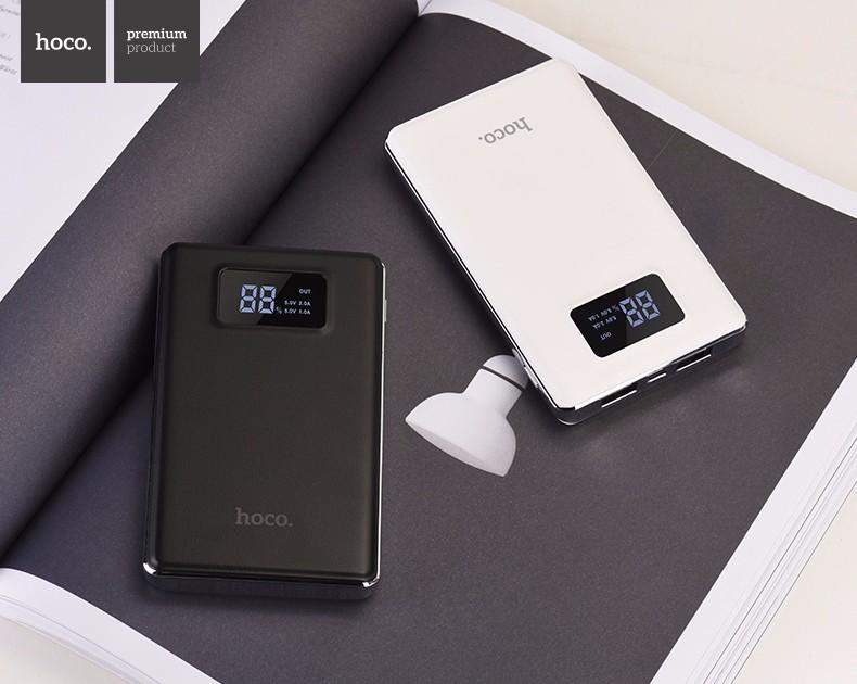 HOCO B23 10000mAh Portable Power Bank with Dual USB and Digital Display
