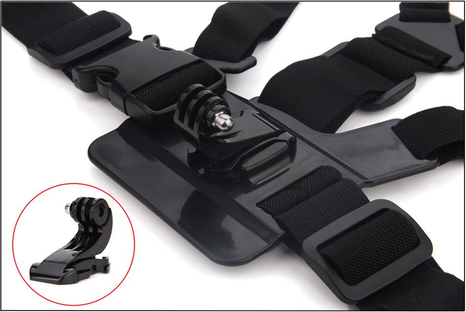 SOOCOO Action Camera Accessories Chest Belt Strap Car Wrist Strap Monopod Kit