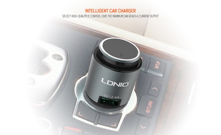 LDNIO CM20 Car Charger with Mono Bluetooth Headset