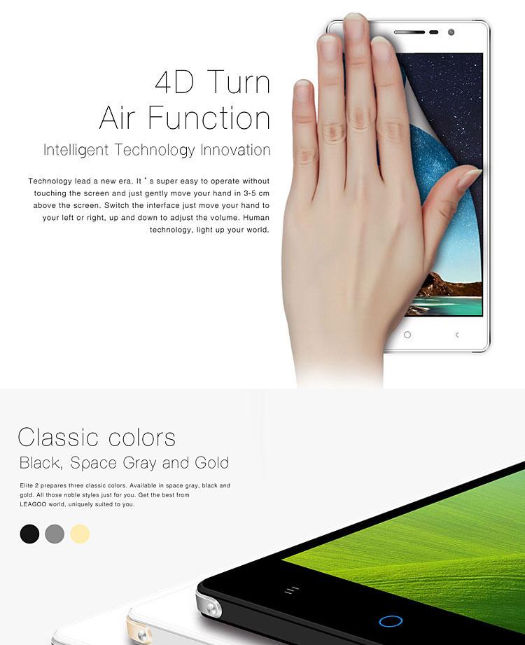 LEAGOO Elite 2 3G Smartphone 5.5 Inch Dual SIM Android 4.4 Octa Core Phablet