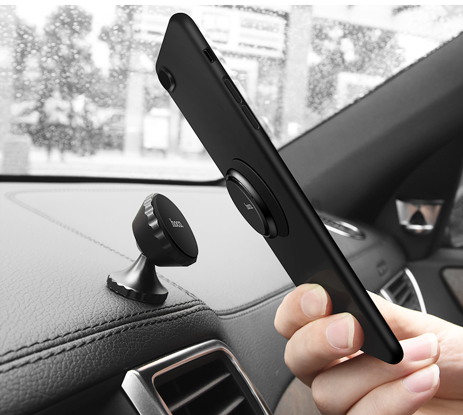 HOCO PH1 Universal Metal Ring Stand 360 Degree Rotation Magnetic Car Holder