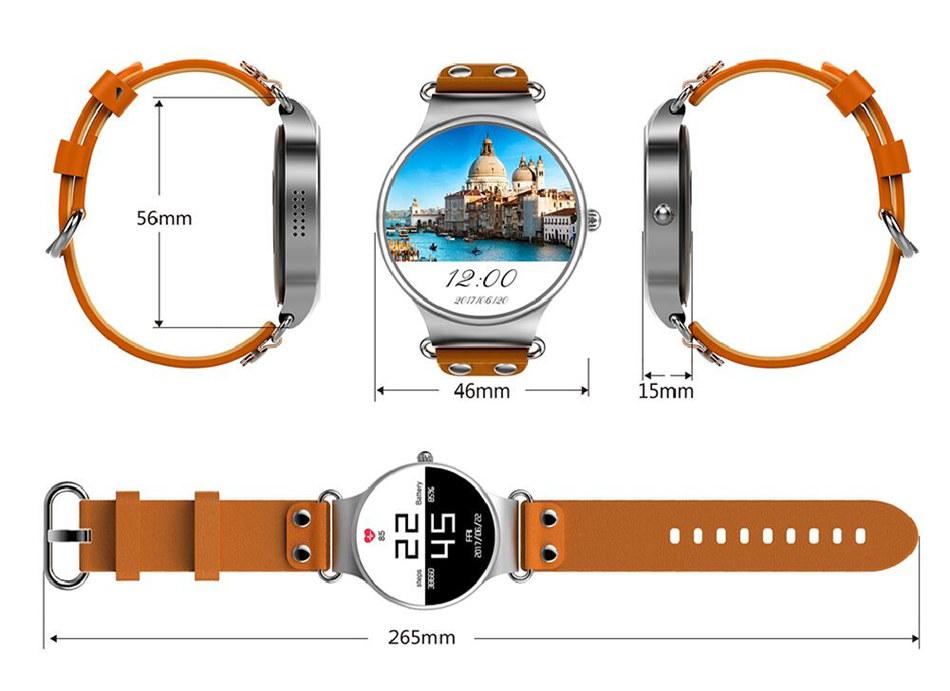 KW98 Smart Watch Phone WiFi GPS Heart Rate Monitoring Smartwatch