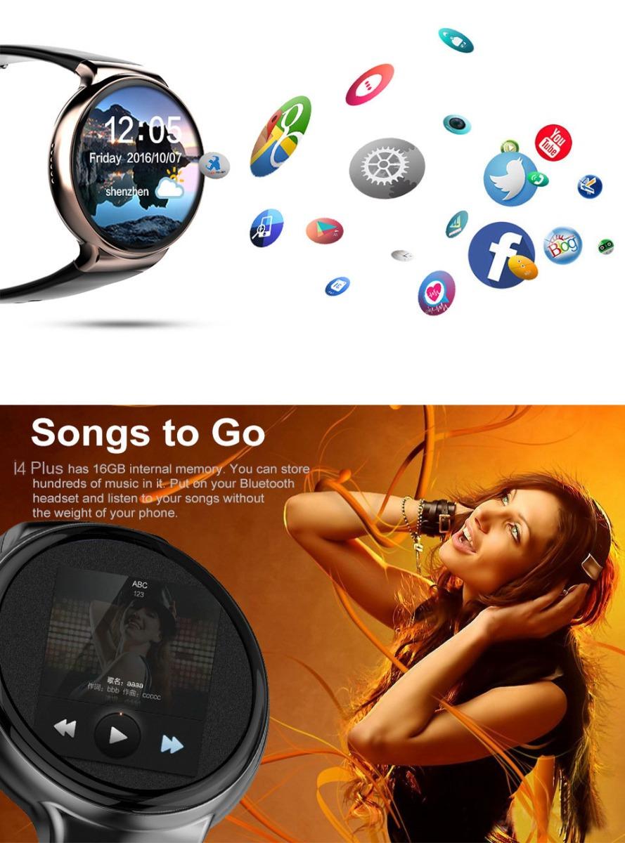 I4 Plus 3G Bluetooth Smart Watch Phone GPS Heart Rate Monitor Smartwatch