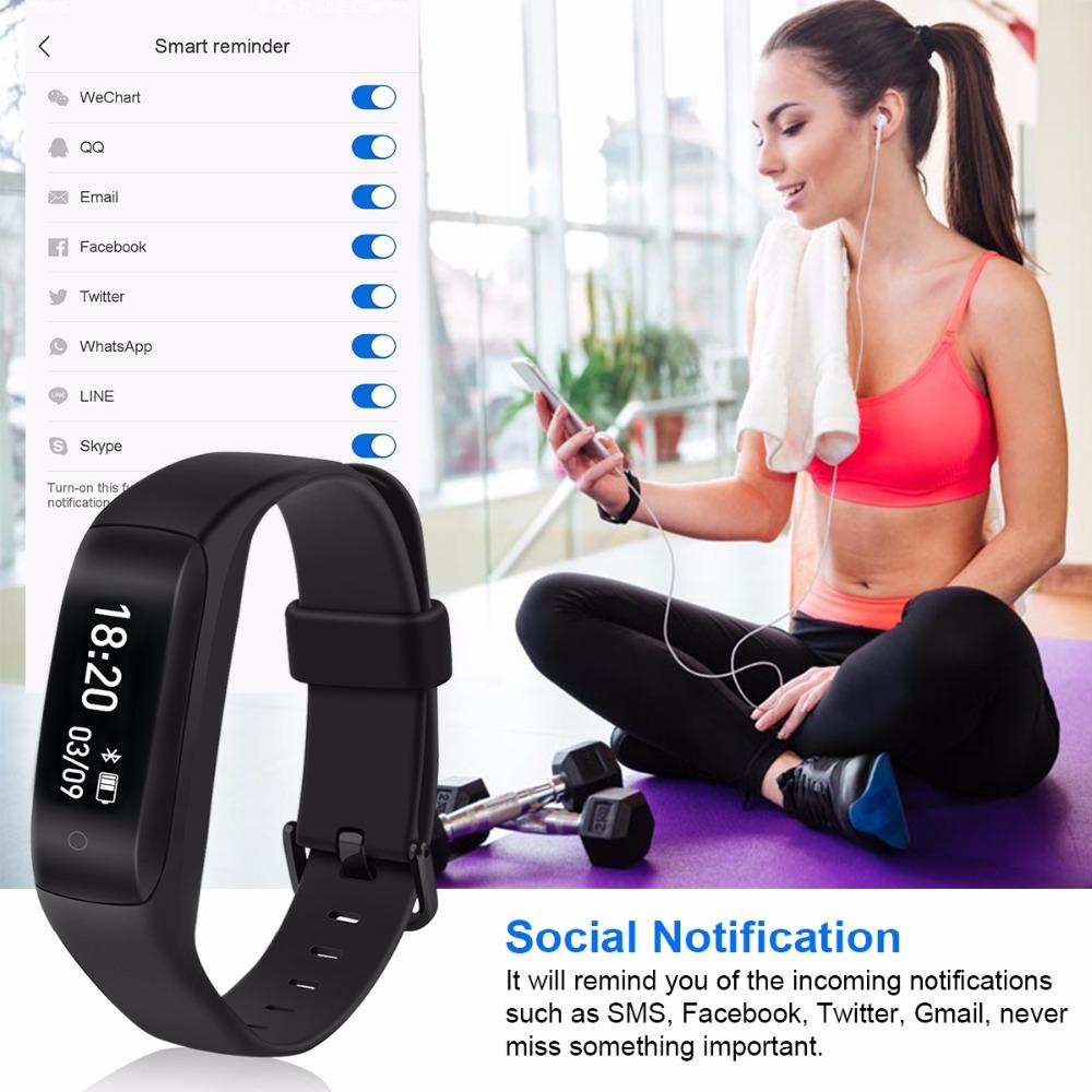 Lenovo HW01 Waterproof Smart Wristband Bluetooth Dynamic Heart Rate Monitor