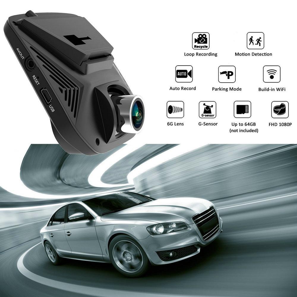 Azdome A305 WiFi 170° Car DVR 1080P Full HD Night Vision Dash Cam