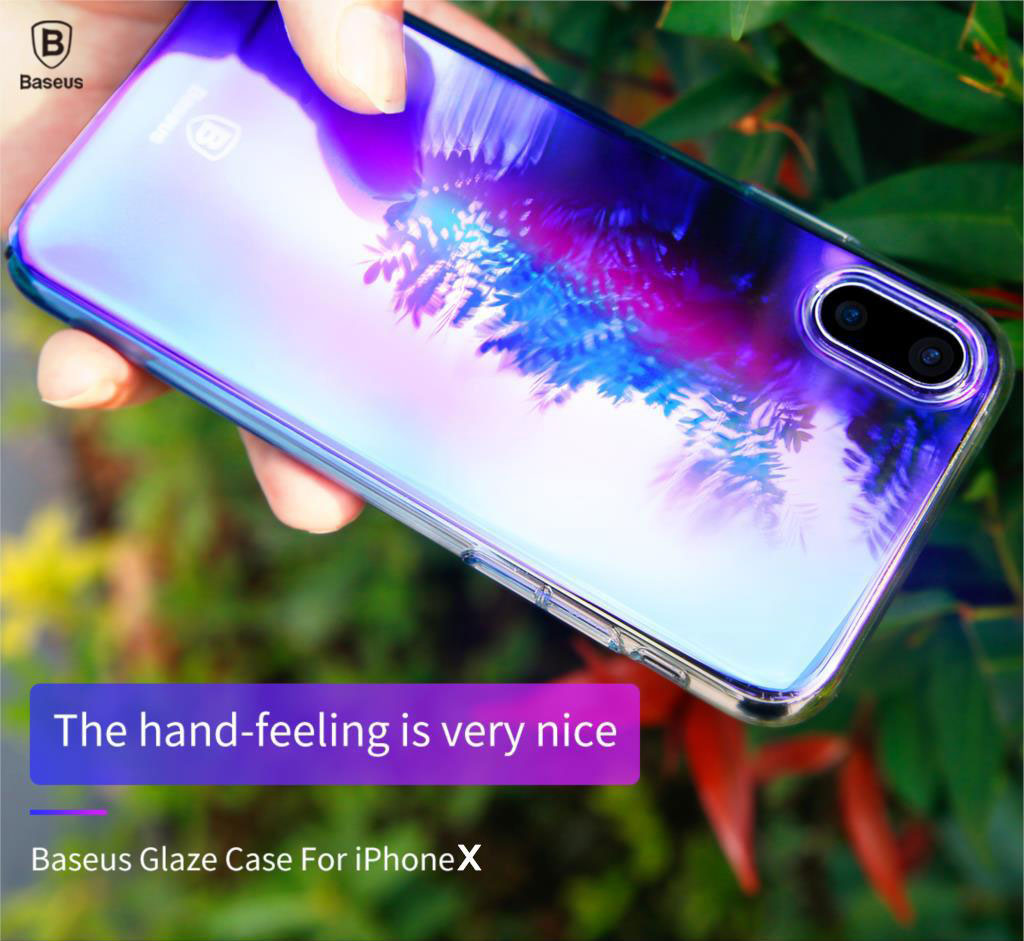 Baseus Ultra Thin Case for iPhone X Luxury Plating Hard PC Material