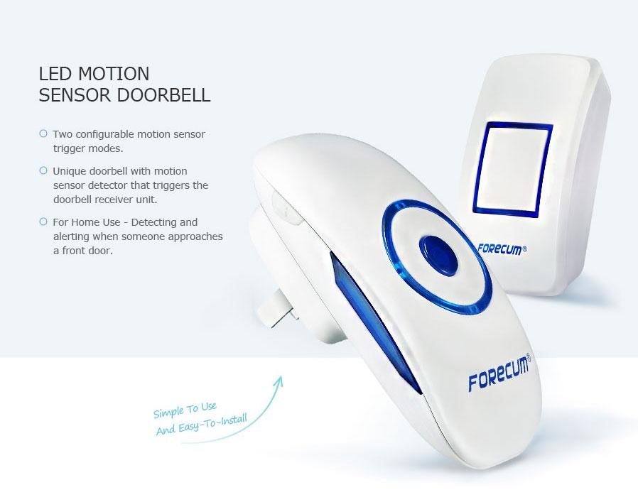Forecum 8F Waterproof Wireless Smart Doorbell Support Remote Control