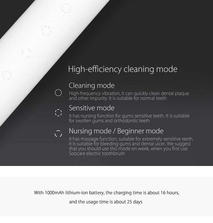Soocas Soocare X3 Smart Electric Toothbrush Bluetooth Waterproof Wireless Charging