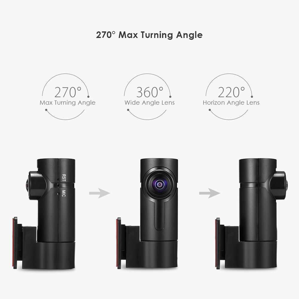 G6 Smart Car DVR 1080P 360° Full View 270 Degree Turning Angle Dash Camera