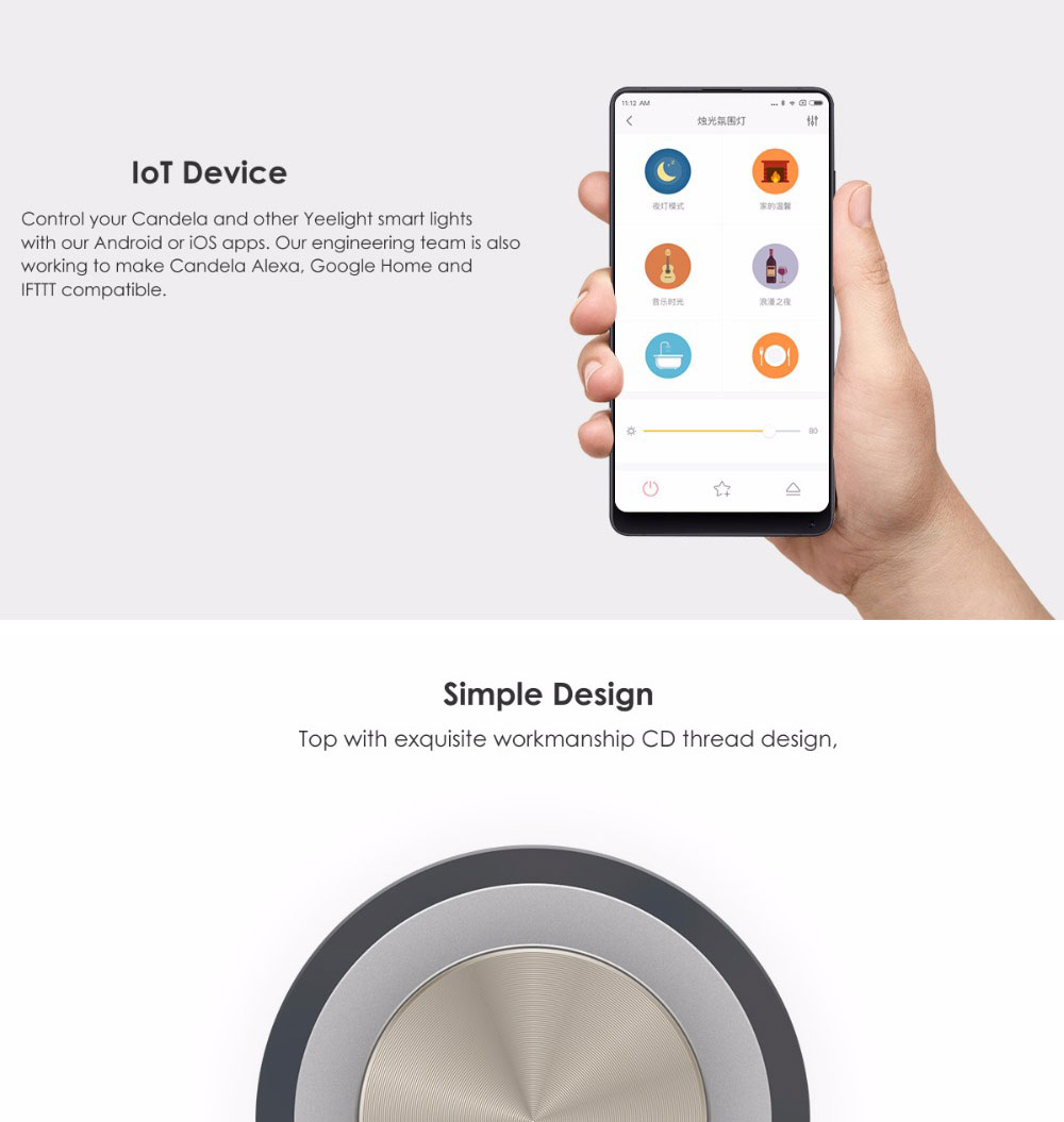 xiaomi smart candle lamp