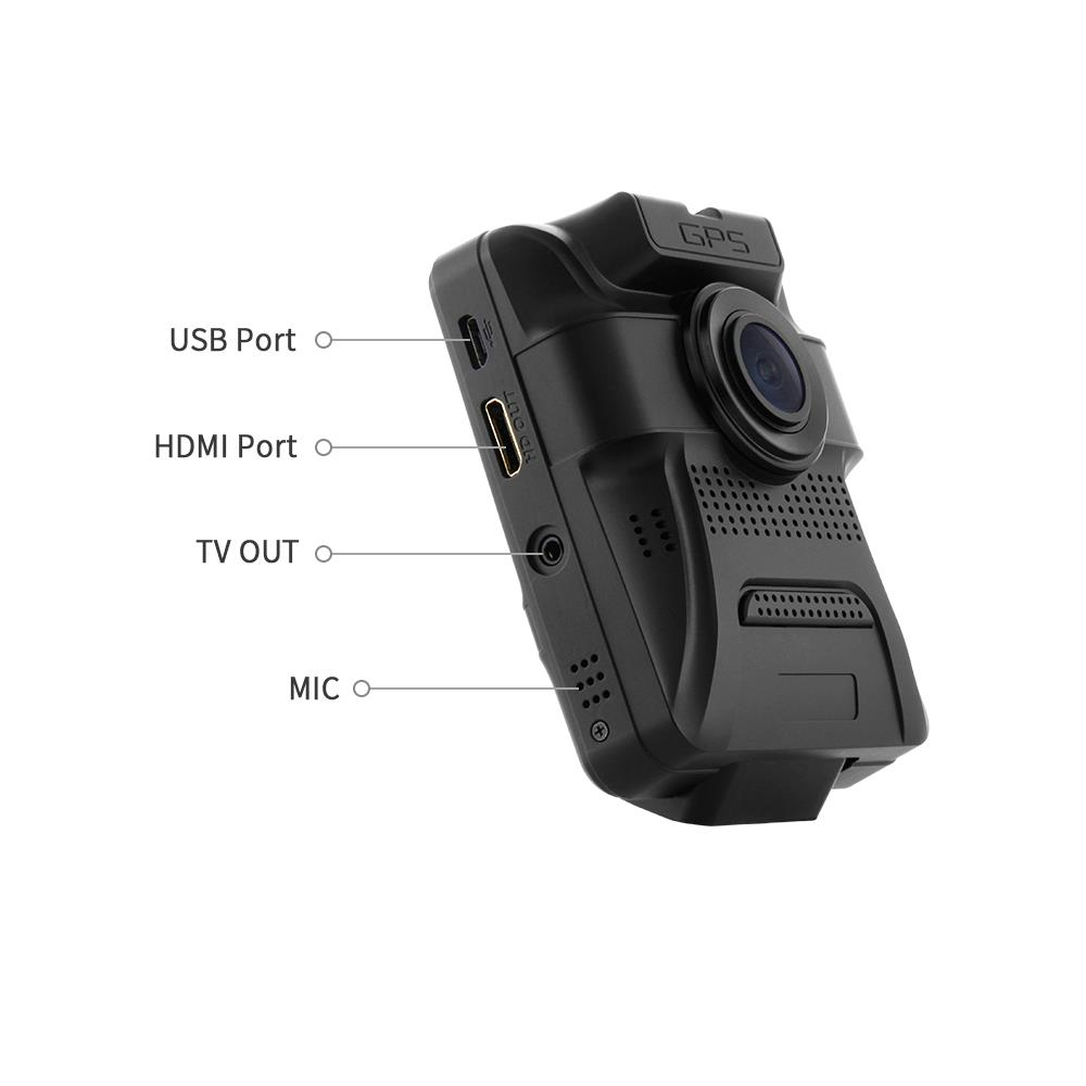Azdome GS65H Mini Dual Lens Car DVR 1080P Full HD Night Vision Dash Cam