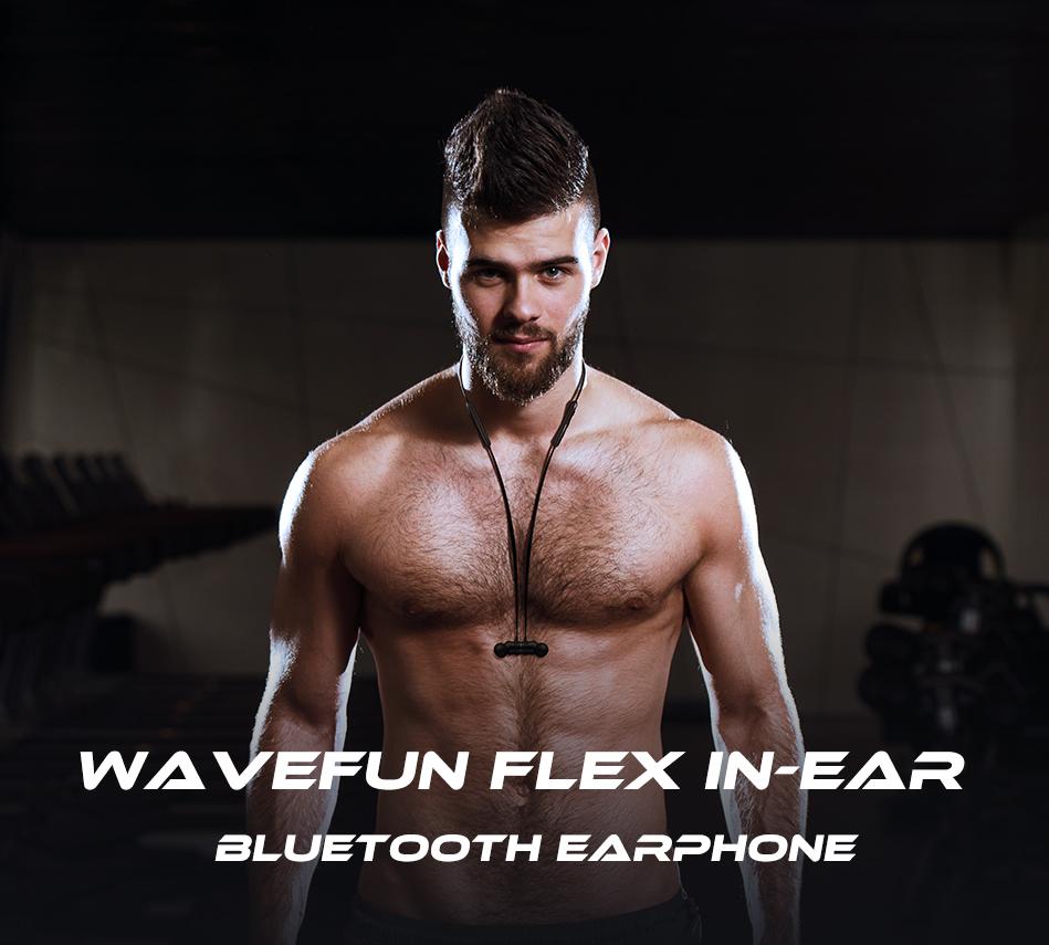 Wavefun Flex Wireless Bluetooth Earbud Sports Magnetic Stereo Headset