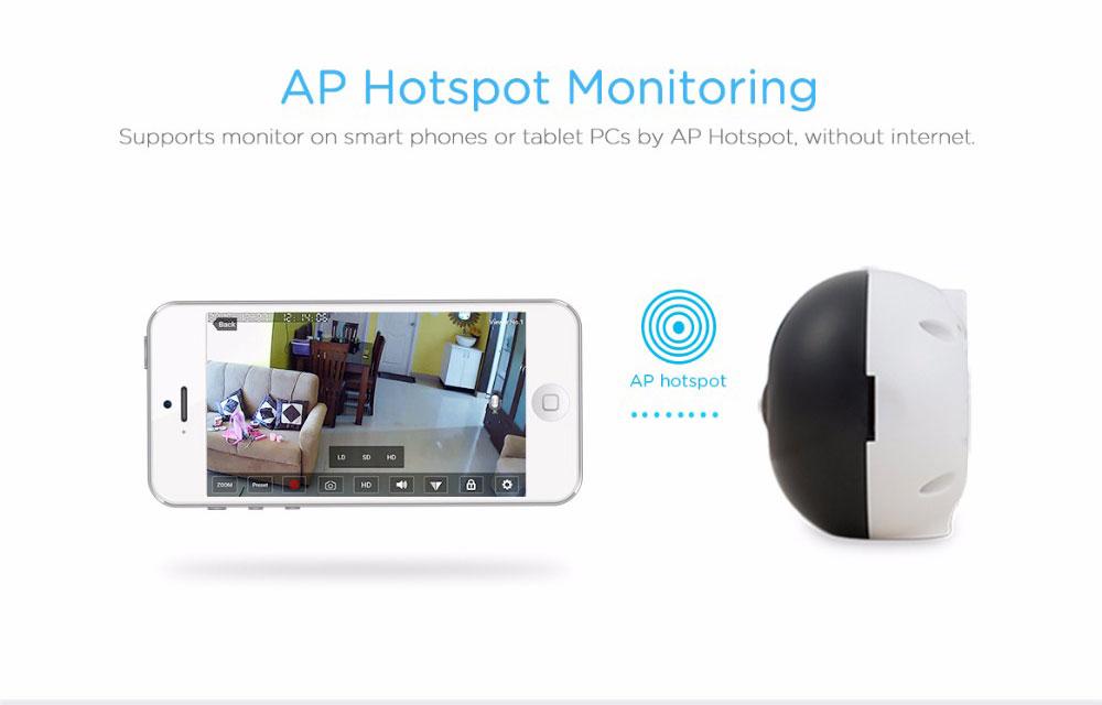 Sricam SP022 Mini 960P IP Camera WiFi 360 Degree Panoramic IR Surveillance