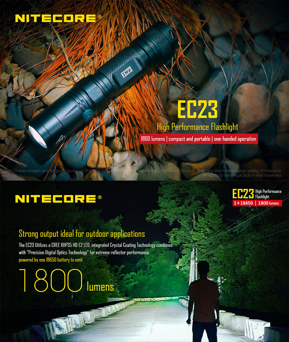 nitecore ec23 flashlight