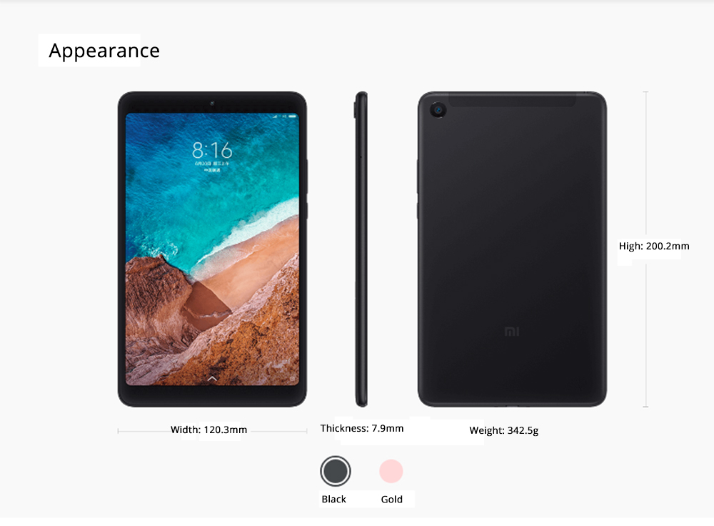xiaomi 4g tablet