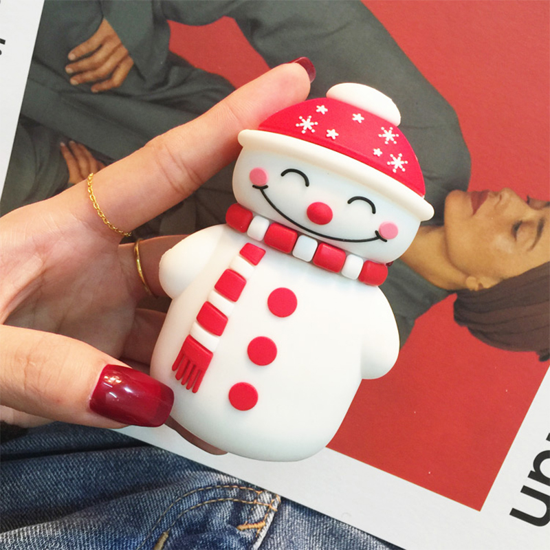 New Cartoon Santa Claus Power Bank Christmas Tree Snowman Rechargeable Christmas Gifts