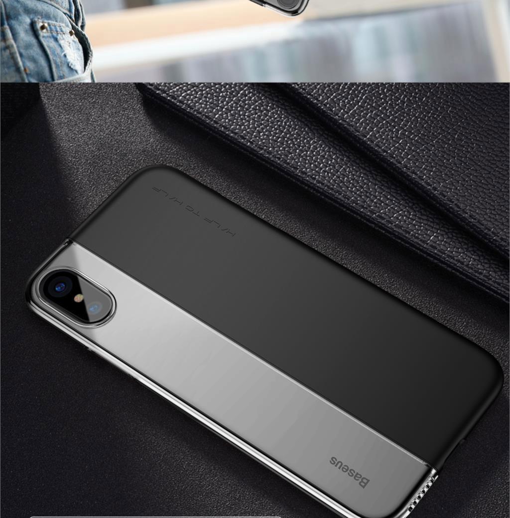 Baseus ARAPIPHX-RY Half to Half Case for iPhone X