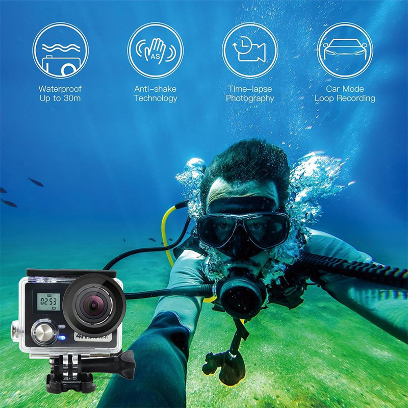 AT-N460 4K Wifi Sports Camera with Remote Control 2.4G