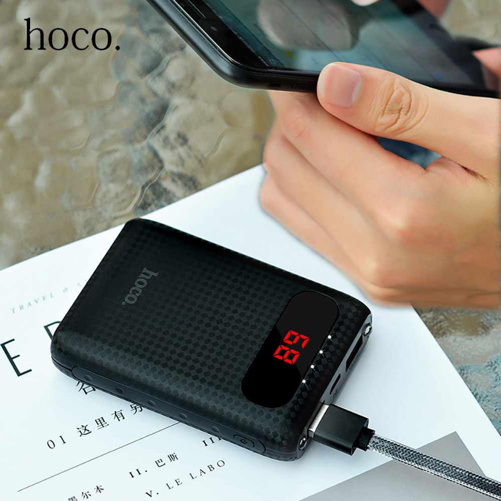 HOCO B20 10000mAh 18650 Power Bank for iPhone Xiaomi Samsung