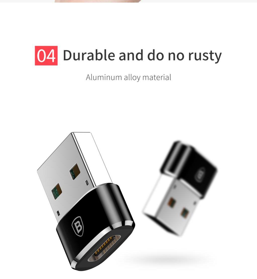 Baseus CAAOTG-01 Mini Type-C Female to USB Male Adapter Converter