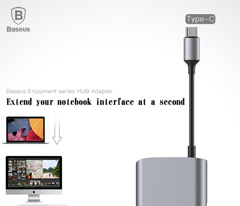 Baseus CATSX-A0G Type C to 2xUSB 2.0 + USB 3.0 HUB Adapter
