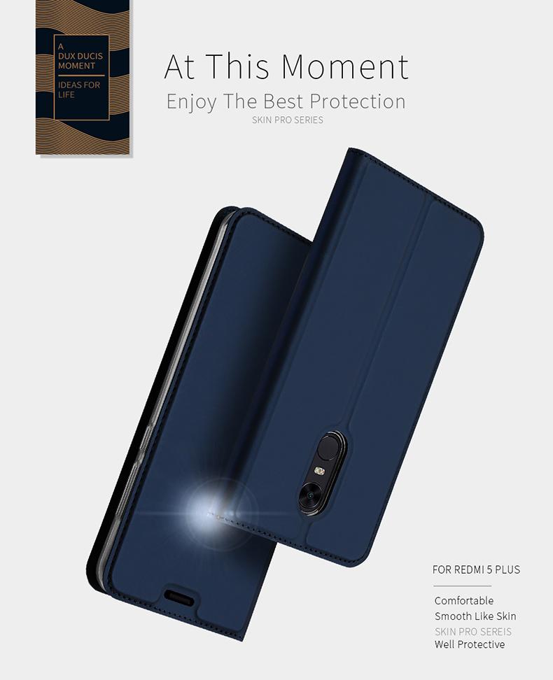 DUX DUCIS PU Leather Flip Case for Xiaomi Redmi 5 Plus