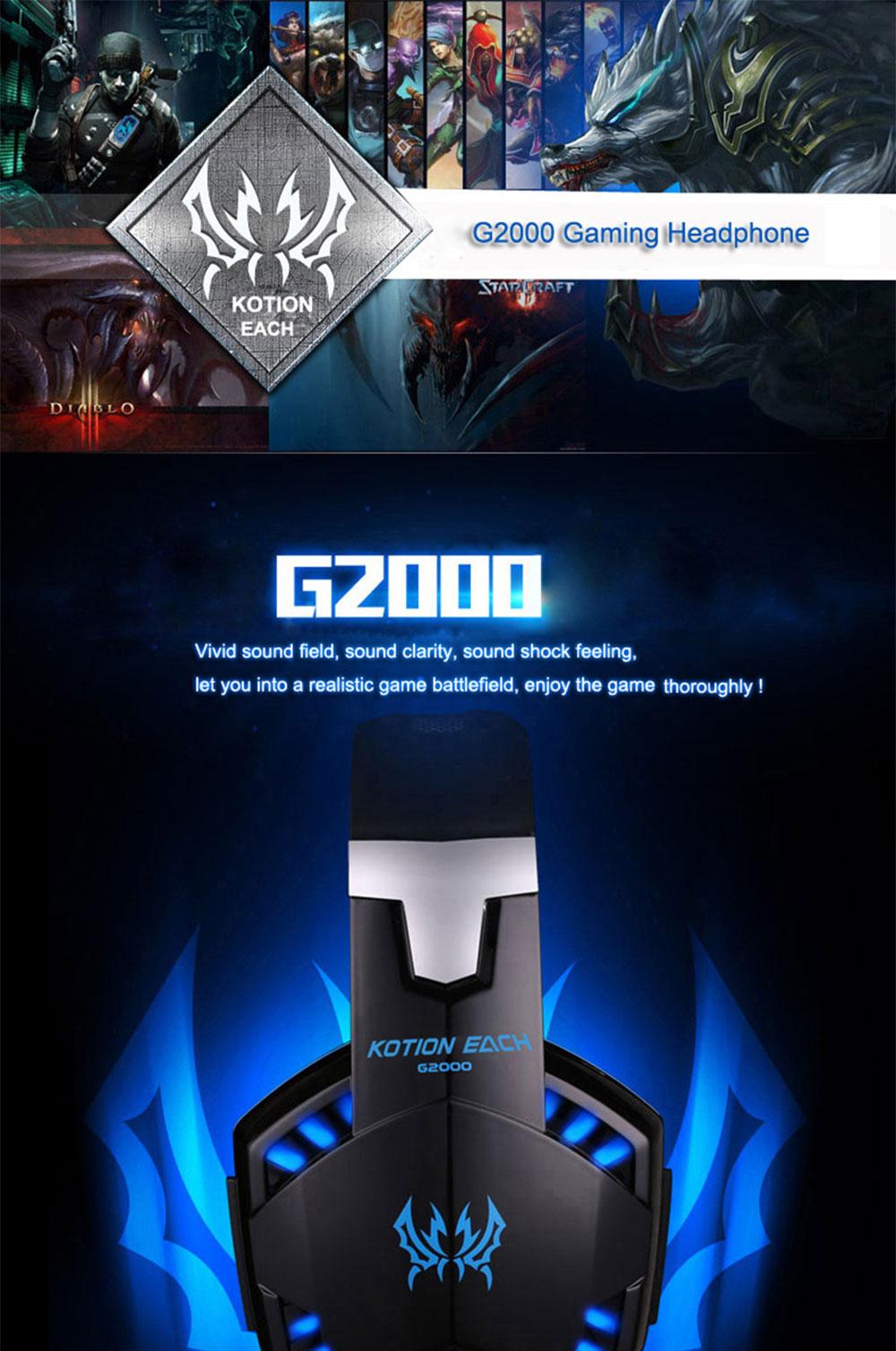 each g2000 gaming headset