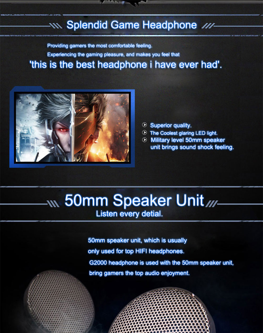 each g2000 stereo gaming headset